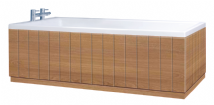 Luxury Tongue and Groove Lancaster Oak 2 Piece adjustable Bath Panels